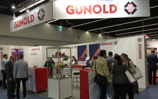 View at the Gunold booth, Texprocess 2015 Photos: Gunold