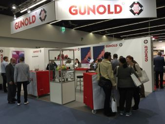 View at the Gunold booth, Texprocess 2015 Photos: Gunold