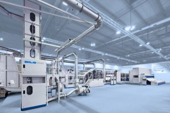 DILO-high capacity production line – ITMA 2015, Milan, Italy (Photos: Dilo)