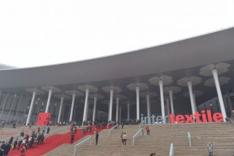 The Intertextile Shanghai take place at the National Exhibition and Convention Center Shanghai  Photo: Anna Blum