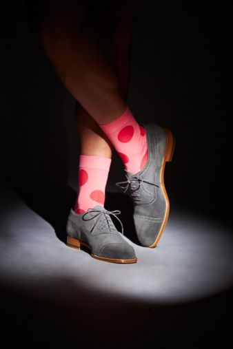 Special edition socks designed by Manolo - with fuchsia spots Photos: Falke