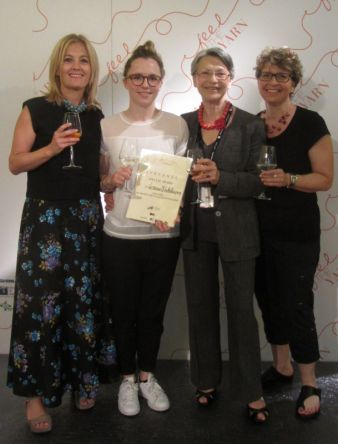 "The winner team (from the left to the right) Raffaella Pinori, Pinori Filati"", Verena Winkelmann, Ornella Bignami ""Elementi Moda"" and Prof. E..."
