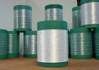 ZTA green fibres (unfired fibres) on reels Photo: ITCF Denkendorf