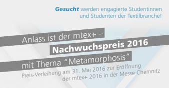 textile network und die Messe Chemnitz loben gemeinsam den mtex+ Nachwuchspreis aus (Photo: Textile network)