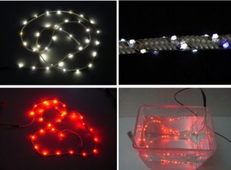 Textile tape equipped with light emitting diodes and waterproof finishing