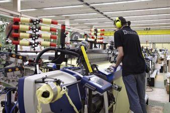 Production of fabric at Delcotex