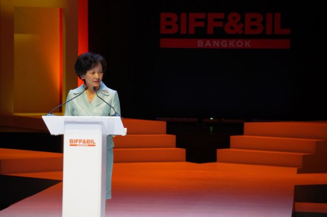 Mrs Apiradi Tantraporn, Deputy Minister of Commerce at the opening