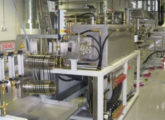 High temperature furnace and surface treatment line for the carbonisation process Photo: ITCF