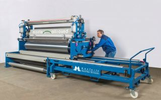Montex-Allround for high production continuity: Modular coating system not only for technical textiles Photos: Monforts