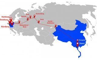 Rail Eurasia Route Duisburg - Hanoi Photo: Hellmann