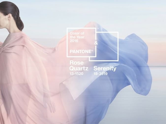 The Colour(s) of the Year 2016: Serentiy and Rose Quartz. (Photos: Pantone)