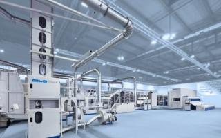 DILO-high capacity production line – ITMA 2015, Milan, Italy (Photos: Dilo)