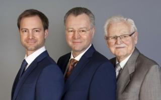 from the left to the right: Christopher Veit, Günter Veit and Reinhard Veit (Photo: Veit)
