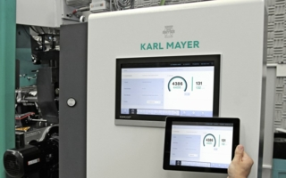 """Market and technology leader Karl Mayer´s booth has the title: """"We care about your future"""" Photo: Karl Mayer"""