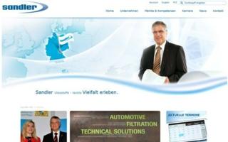 screenshot webside Sandler