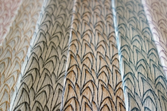 Awarded fabric sample Fire Tail