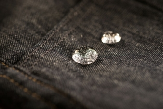 Water repellent finishing technologies are now being used more often in denim applications