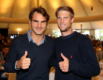 The finalists at the GERRY WEBER OPEN Fashion Night: Roger Federer and Andreas Seppi. Photos: ISKO
