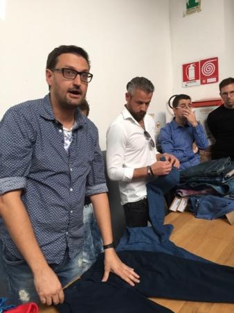 Flavio Tonello stellte sich den zahlreichen Fragen zu den präsentierten Finish-Ergebnissen.