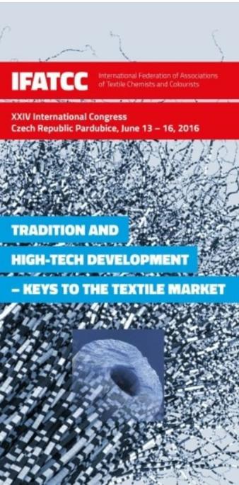 Flyer 24th IFATCC World Congress, June 13-16 2016, PARDUBICE, Czech Republic (screenshot)