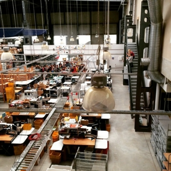 On their busiest days, up to 19,000 orders are processed at the global production facilities