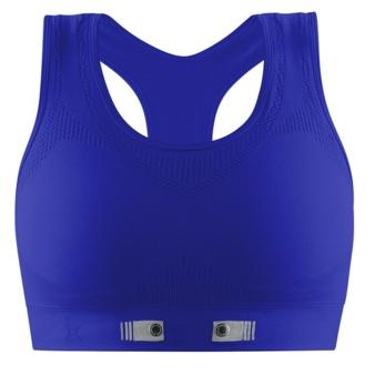 Blue miCoach sports bra