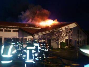 Bei dem Brand ist hoher Schaden in der Fertigung und im Vaude Kinderhaus entstanden. Photo: Vaude