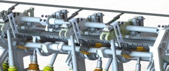 CAD-Modell des aktiven Fadenlängenausgleichssystems I © ITM/TUD