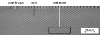 Figure 2: Weft defect